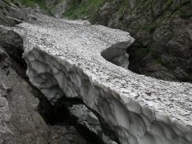 黒部別山谷出合の残雪