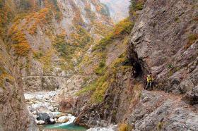 別山谷出合下流から上流を望む