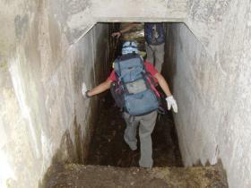 オリオ谷の隧道内(右岸側より)