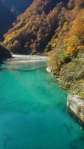 仙人谷ダム湖