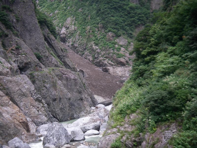 写真:黒部別山谷 大へつりより (9月3日現在)
