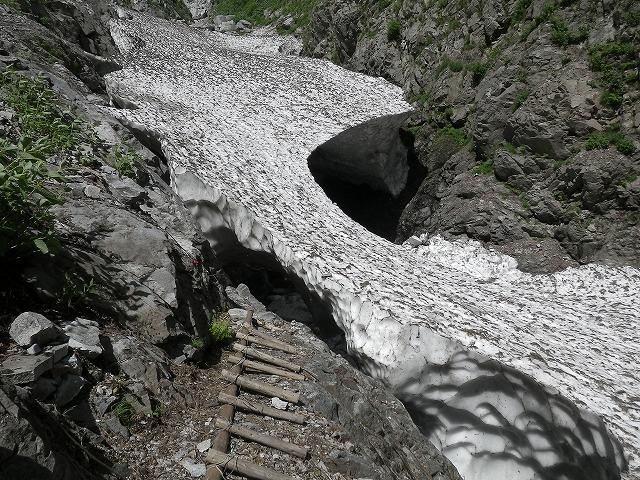 写真:黒部別山谷出合の残雪
