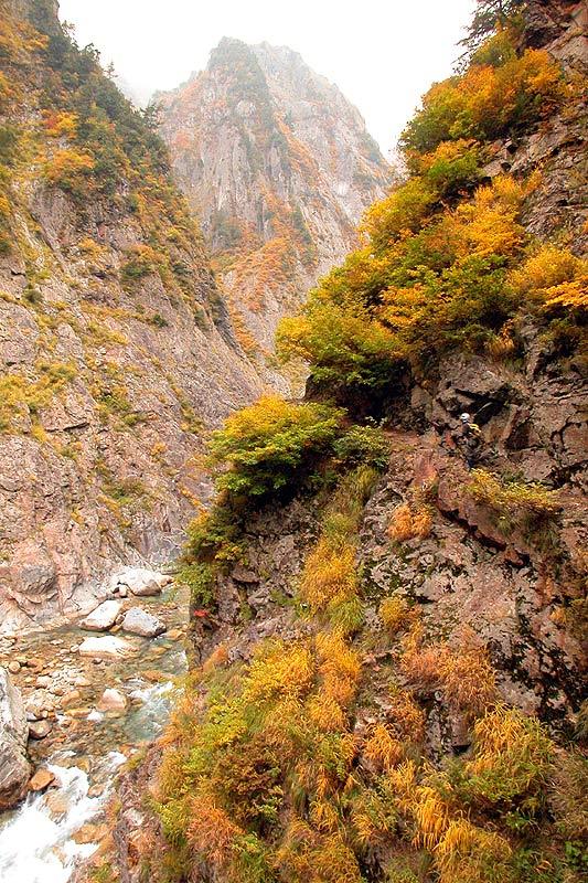 写真:白竜峡~別山谷間