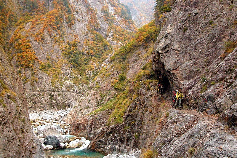 写真:別山谷出合下流から上流を望む