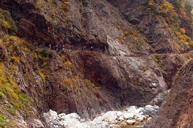 写真:別山谷出合~白竜峡へ