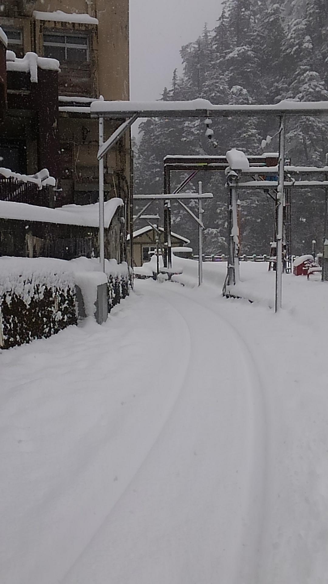 写真:欅平も雪景色です。