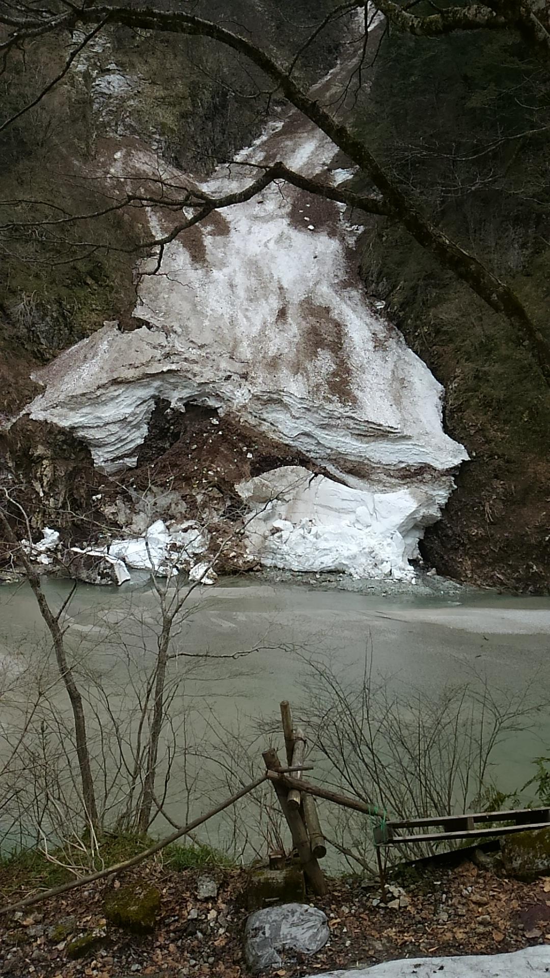 写真:鐘釣の万年雪